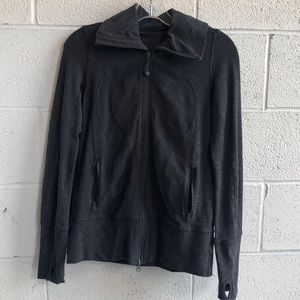 lululemon athletica Jackets & Coats - Lululemon grey zip up jacket w/ hood sz 4 61514